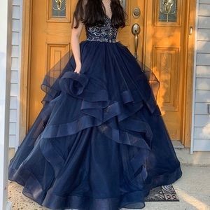 jovani : navy blue evening gown